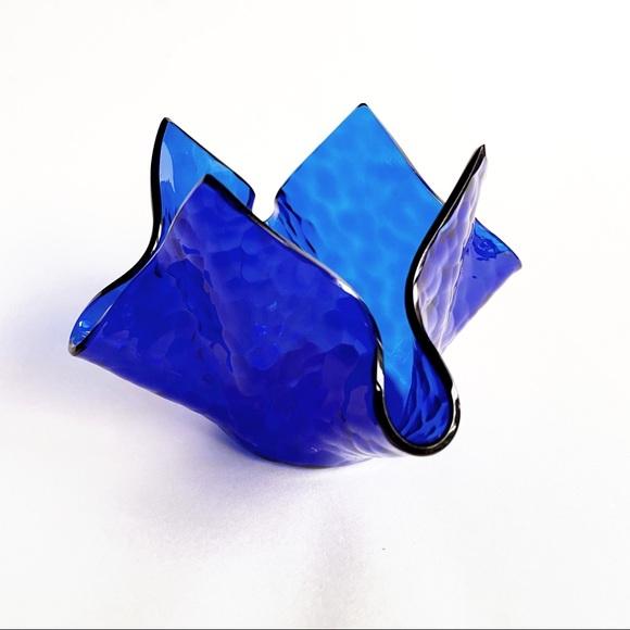 VTG 1969 Chance Handkerchief Glass Votive